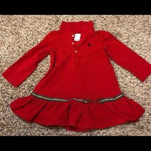 Ralph lauren Girls Dress 18 Month Red